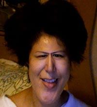 写真:自分の顔にエフェクトをかけた